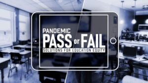 """Promotion image for """"Pandemic Pass or Fail"""" report"""