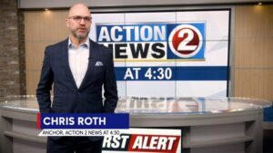Image of News Anchor Chris Roth on WBAY Channel 2 Action News