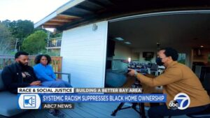 Image of news show with Bay Area homeowners