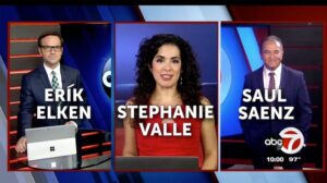 Active engaged anchors Elken, Valle, and Saenz at KVIA's newsroom 7
